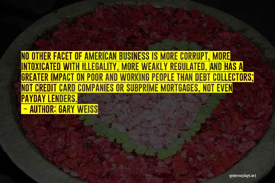 Payday Lenders Quotes By Gary Weiss