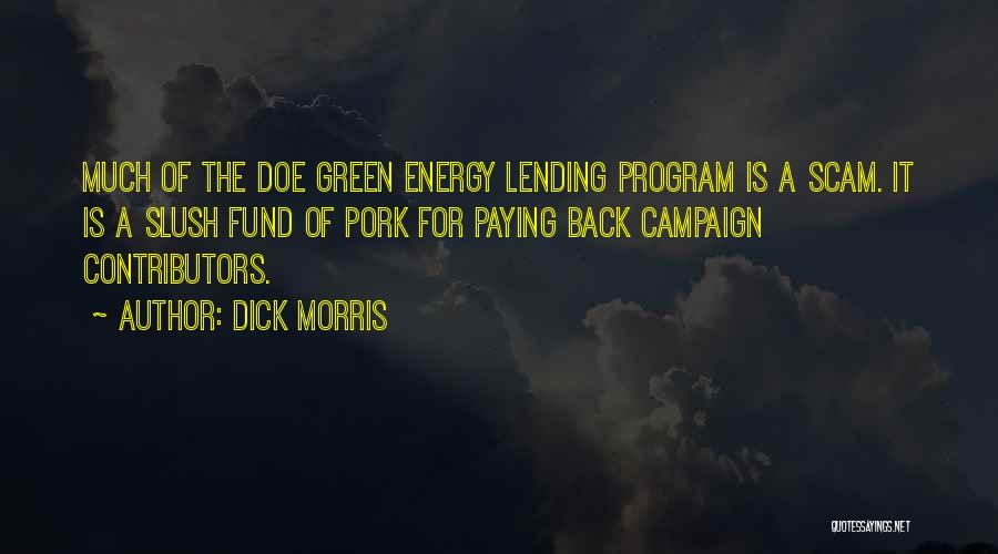 Paying Someone Back Quotes By Dick Morris