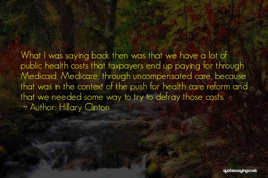 Paying Someone Back Quotes By Hillary Clinton