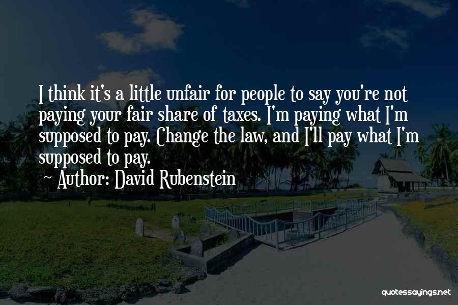 Paying Your Taxes Quotes By David Rubenstein