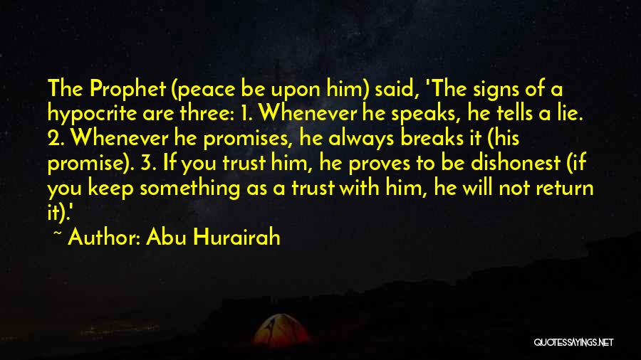 Peace Be Upon You Quotes By Abu Hurairah