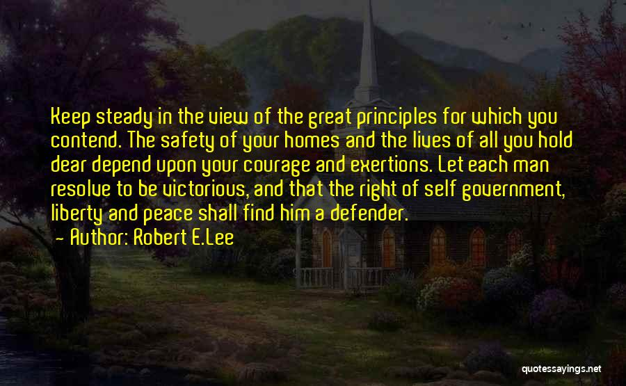 Peace Be Upon You Quotes By Robert E.Lee