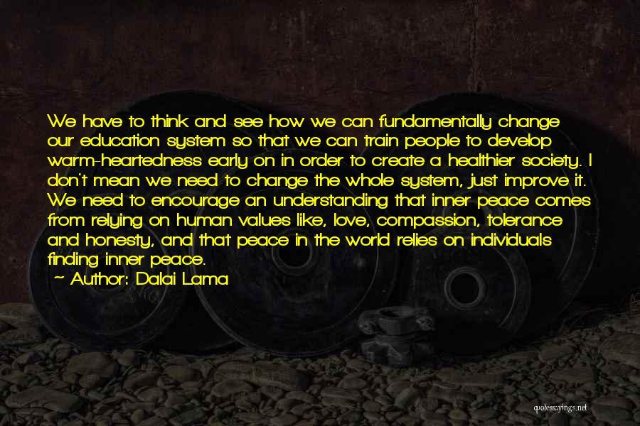 Peace Finding Quotes By Dalai Lama