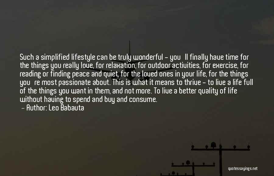 Peace Finding Quotes By Leo Babauta