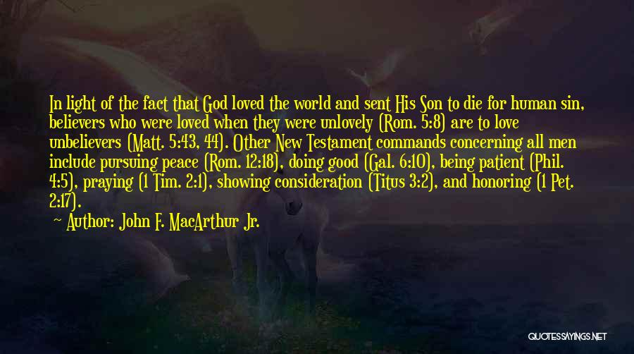 Peace In The New Testament Quotes By John F. MacArthur Jr.