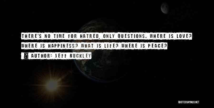 Peace Love Happiness Inspirational Quotes By Jeff Buckley