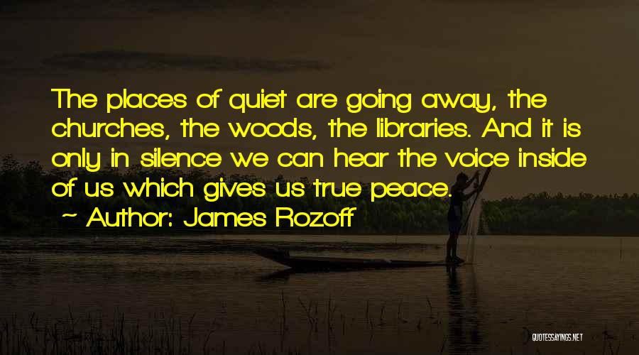 Peace N Quiet Quotes By James Rozoff