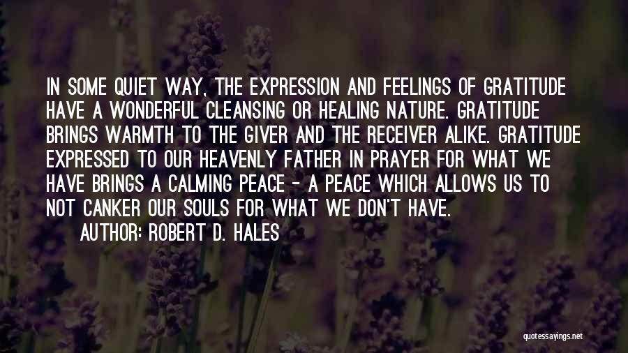 Peace N Quiet Quotes By Robert D. Hales