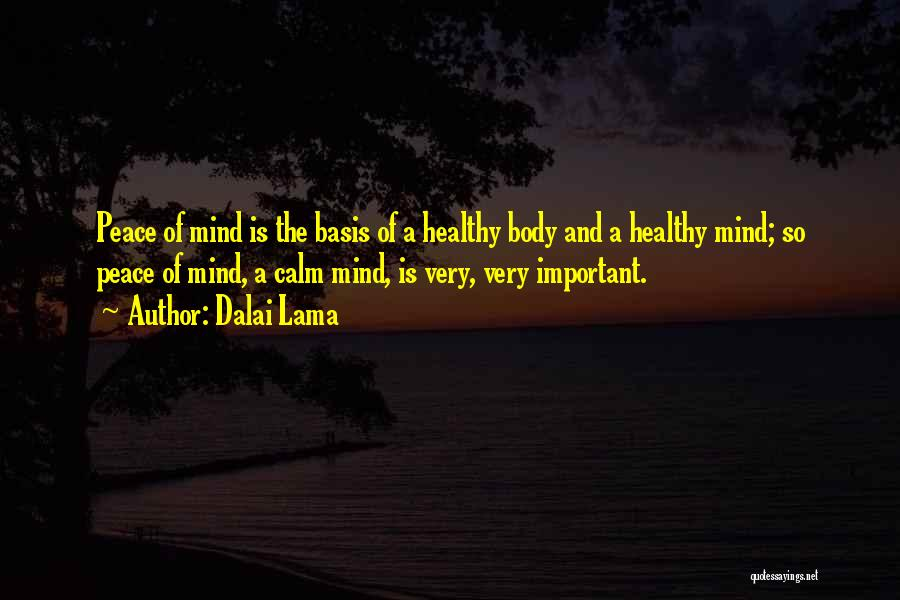 Peace Of Mind And Body Quotes By Dalai Lama