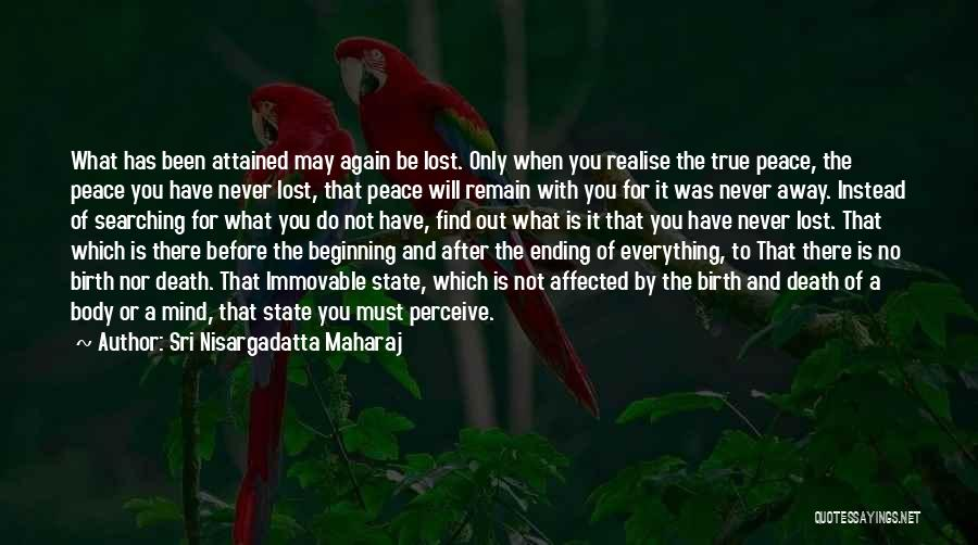 Peace Of Mind And Body Quotes By Sri Nisargadatta Maharaj