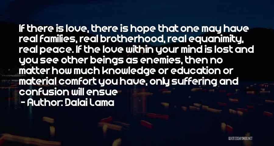 Peace Of Mind And Comfort Quotes By Dalai Lama