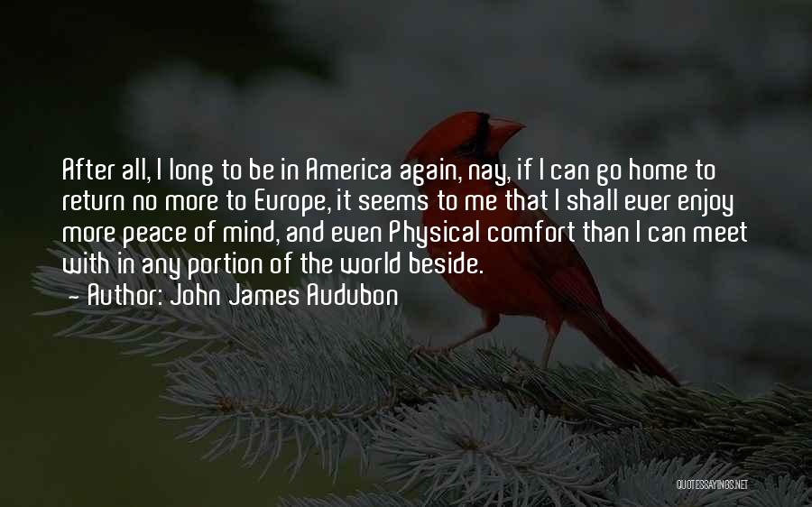 Peace Of Mind And Comfort Quotes By John James Audubon