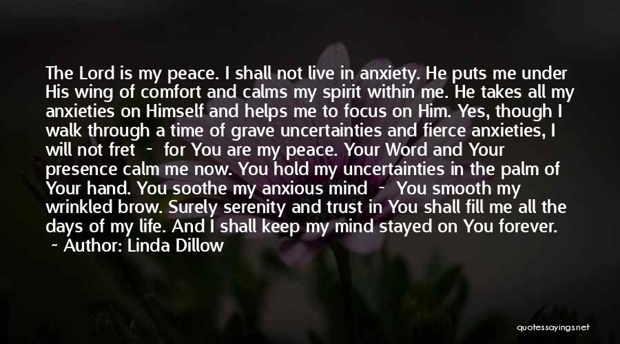 Peace Of Mind And Comfort Quotes By Linda Dillow