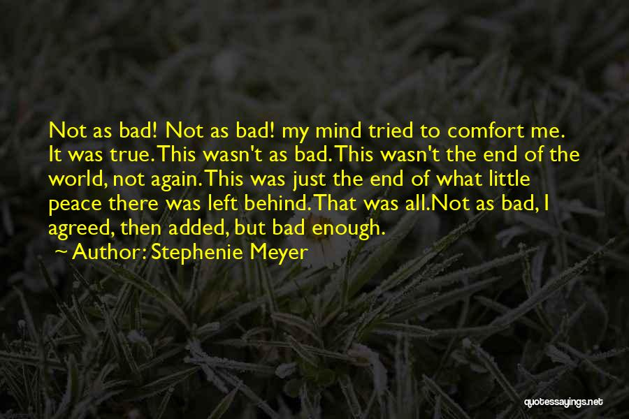 Peace Of Mind And Comfort Quotes By Stephenie Meyer