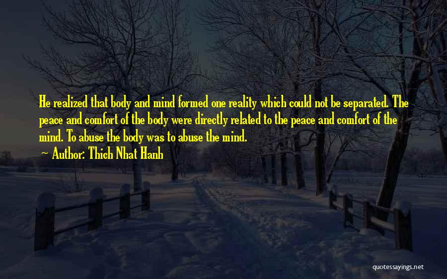 Peace Of Mind And Comfort Quotes By Thich Nhat Hanh