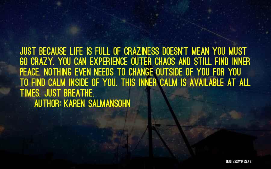 Peace To All Quotes By Karen Salmansohn