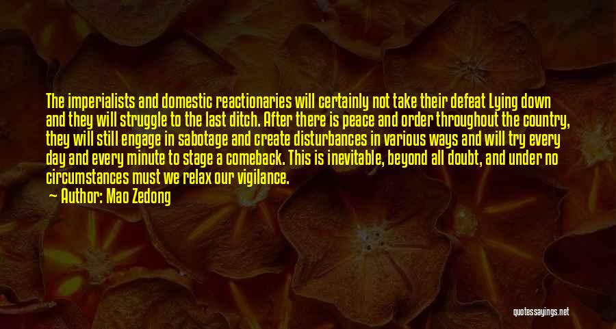 Peace To All Quotes By Mao Zedong