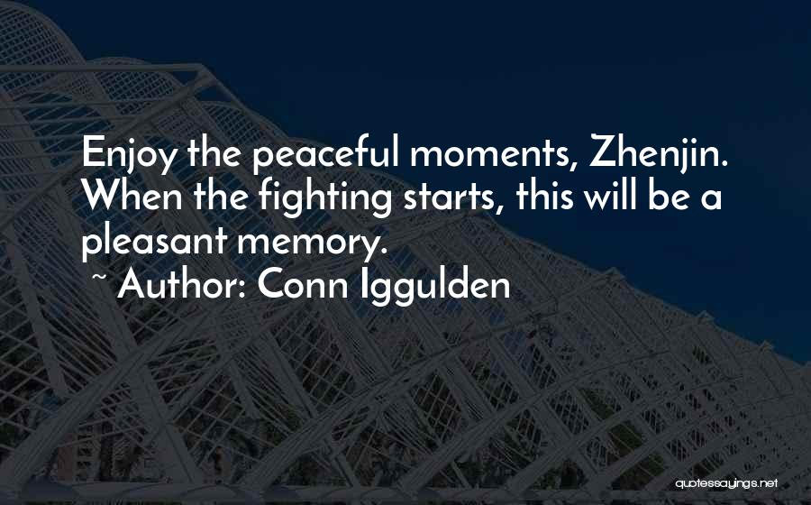 Peaceful Moments Quotes By Conn Iggulden