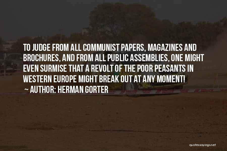 Peasants Revolt Quotes By Herman Gorter