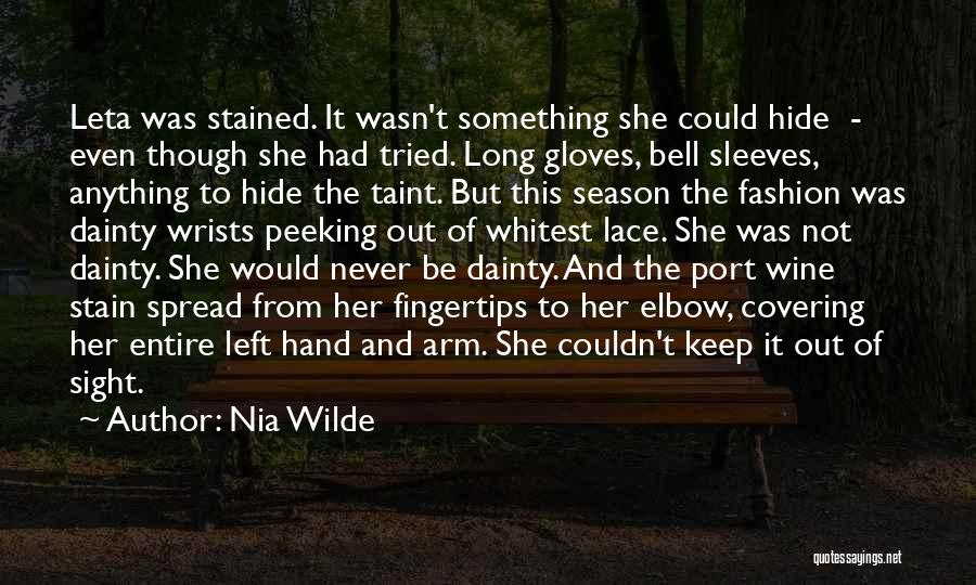 Peeking Out Quotes By Nia Wilde
