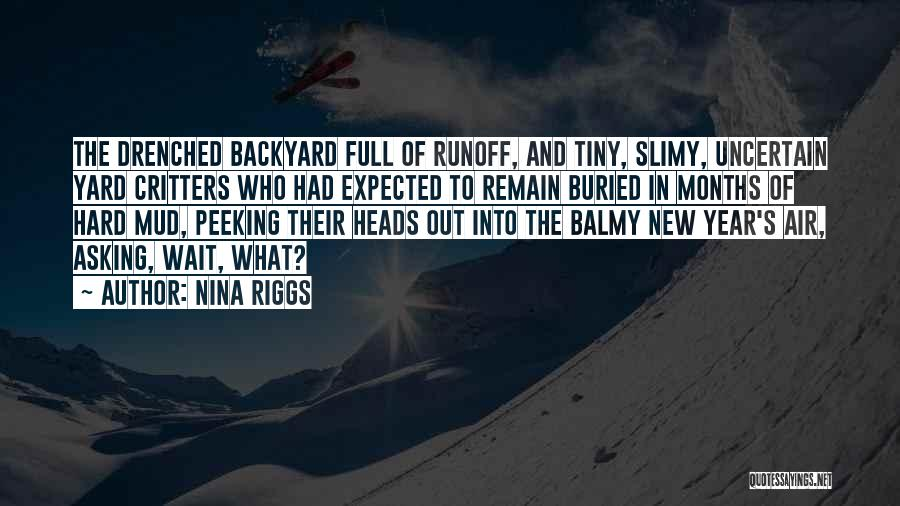 Peeking Out Quotes By Nina Riggs