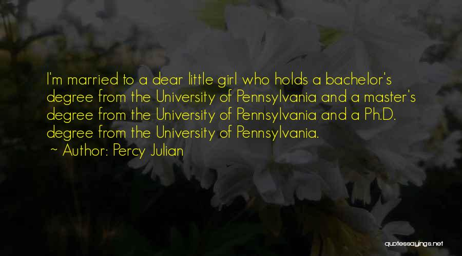 Pennsylvania Girl Quotes By Percy Julian