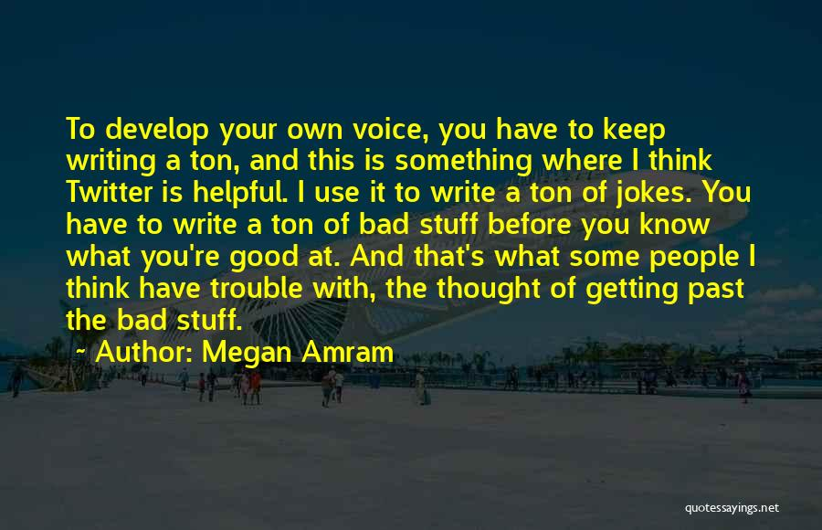 People's Past Quotes By Megan Amram