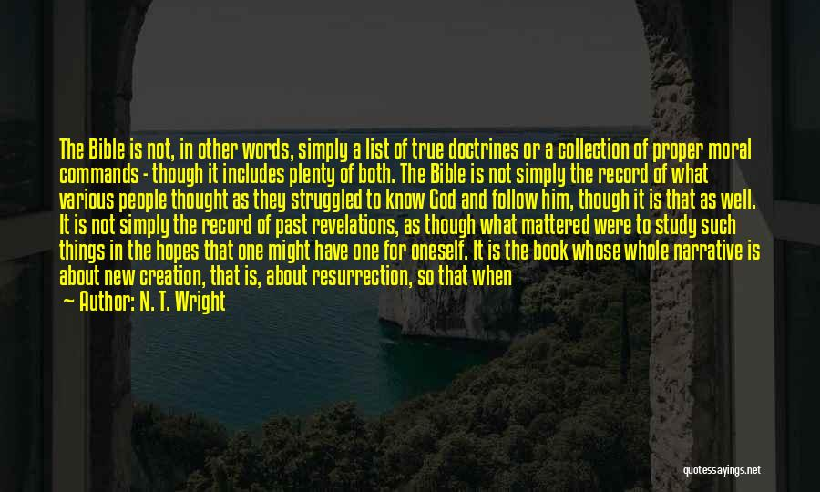 People's Past Quotes By N. T. Wright
