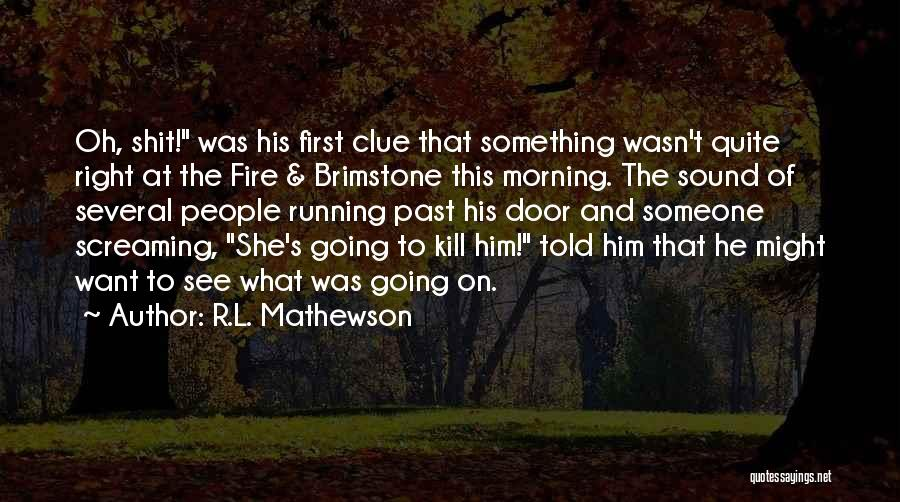 People's Past Quotes By R.L. Mathewson