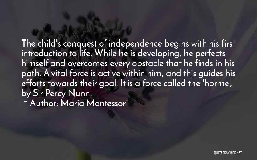 Percy Quotes By Maria Montessori