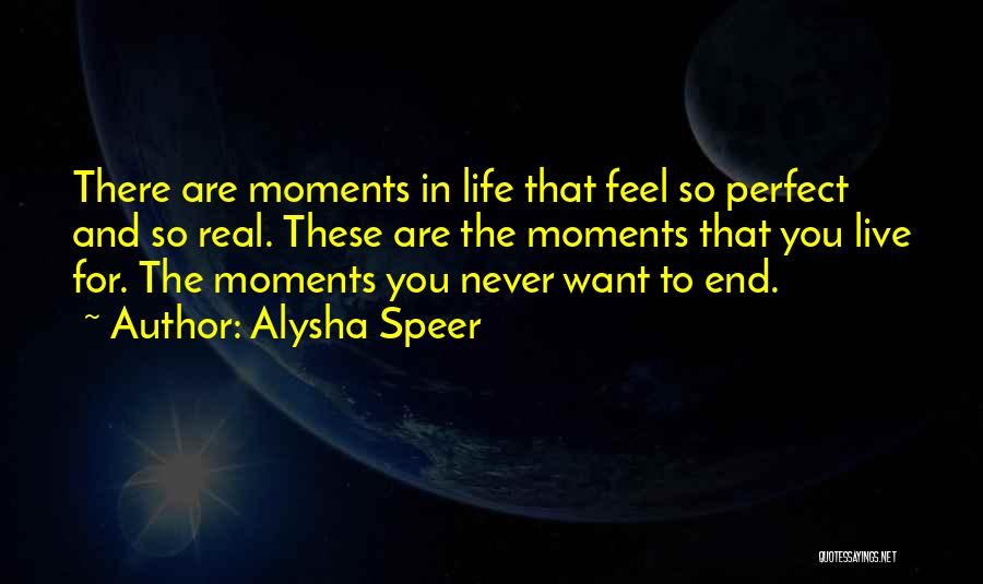 Perfect Life Quotes By Alysha Speer