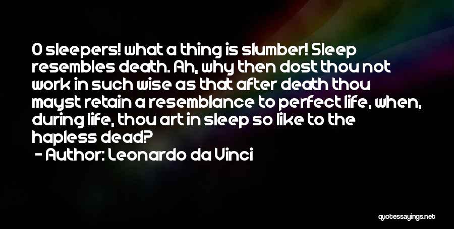 Perfect Life Quotes By Leonardo Da Vinci