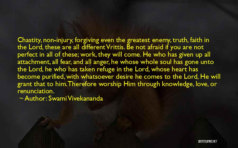 Perfect Love Quotes By Swami Vivekananda