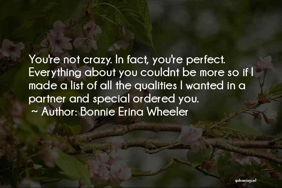 Perfect Love Story Quotes By Bonnie Erina Wheeler