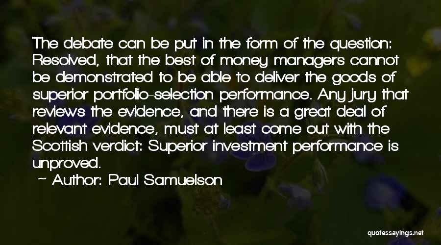 Performance Reviews Quotes By Paul Samuelson