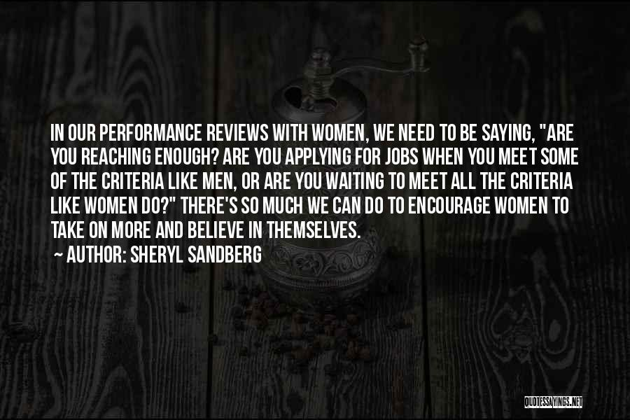 Performance Reviews Quotes By Sheryl Sandberg