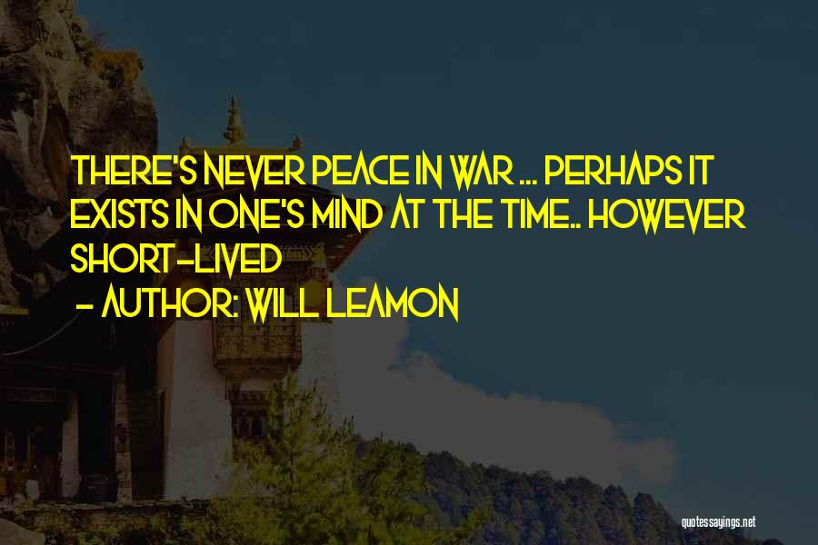 Perhaps Quotes By Will Leamon