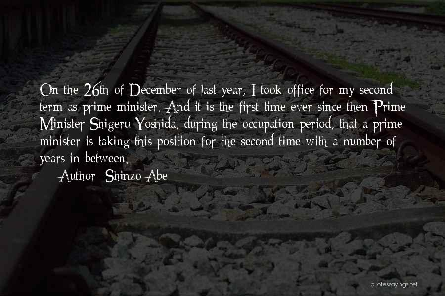 Period Then Quotes By Shinzo Abe