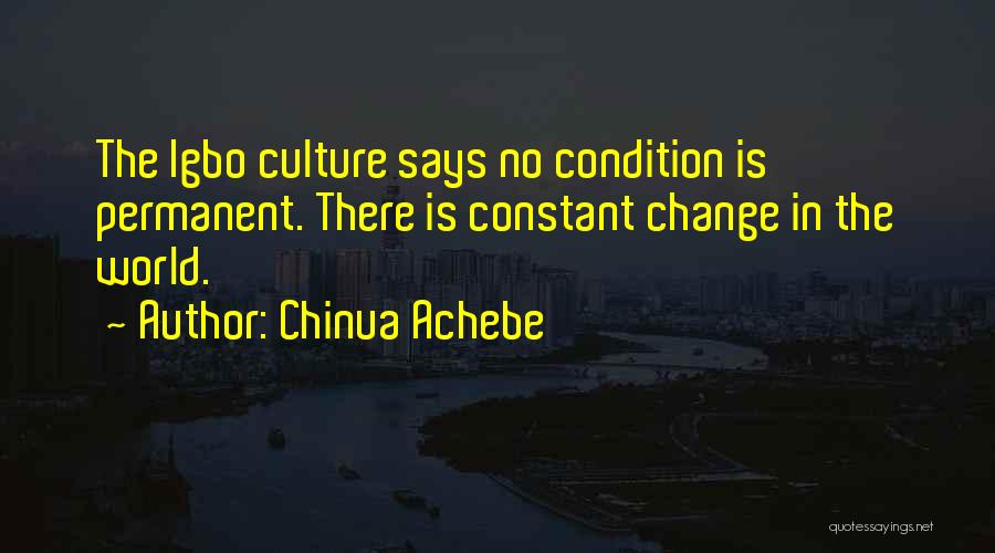 Permanent Change Quotes By Chinua Achebe