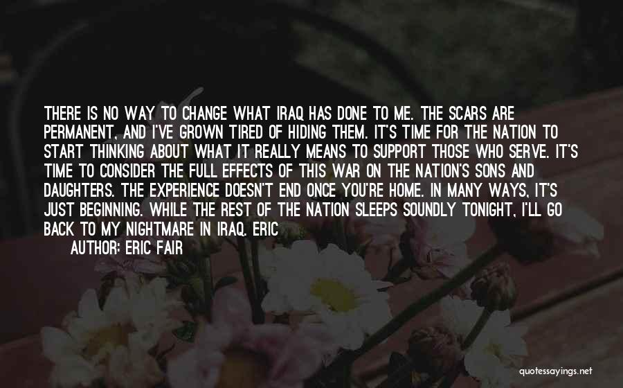 Permanent Change Quotes By Eric Fair