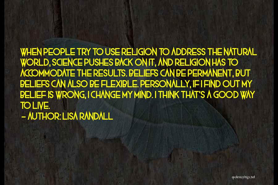 Permanent Change Quotes By Lisa Randall