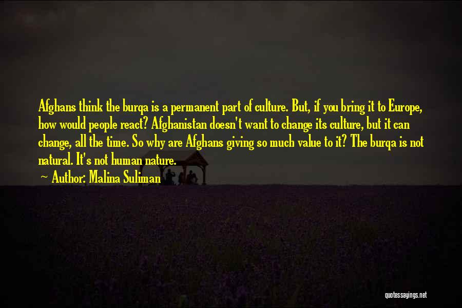 Permanent Change Quotes By Malina Suliman
