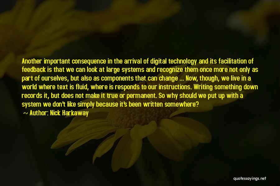 Permanent Change Quotes By Nick Harkaway