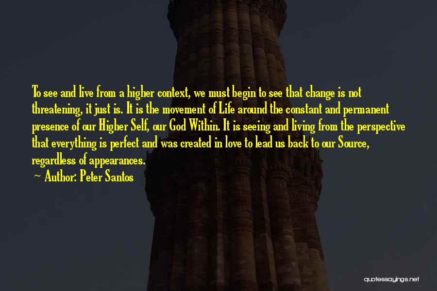 Permanent Change Quotes By Peter Santos