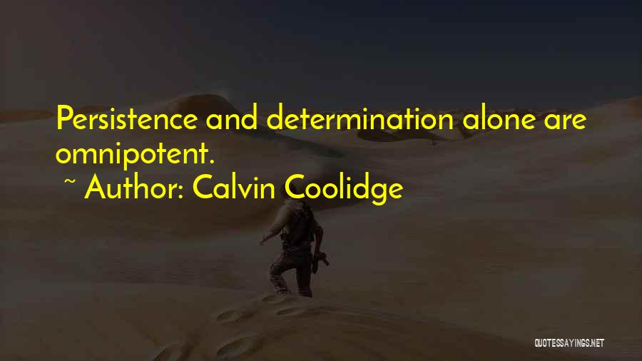 Perseverance And Determination Quotes By Calvin Coolidge