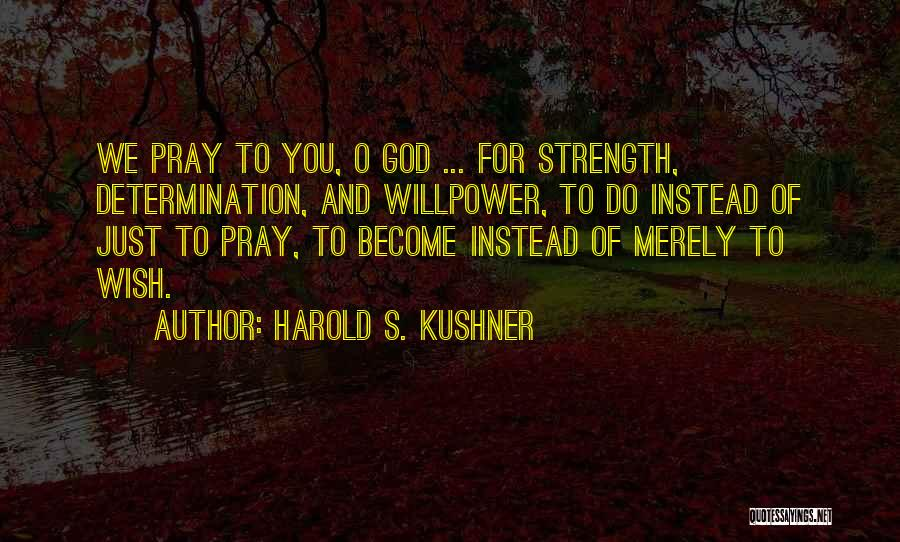 Perseverance And Determination Quotes By Harold S. Kushner