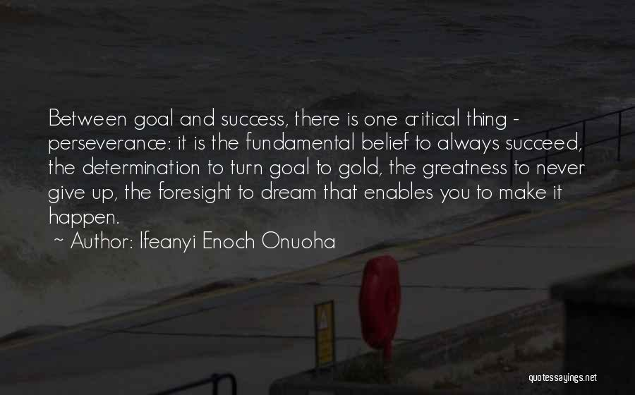 Perseverance And Determination Quotes By Ifeanyi Enoch Onuoha