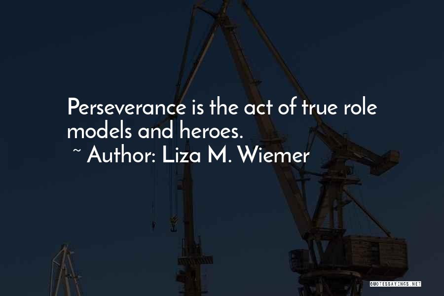 Perseverance And Determination Quotes By Liza M. Wiemer