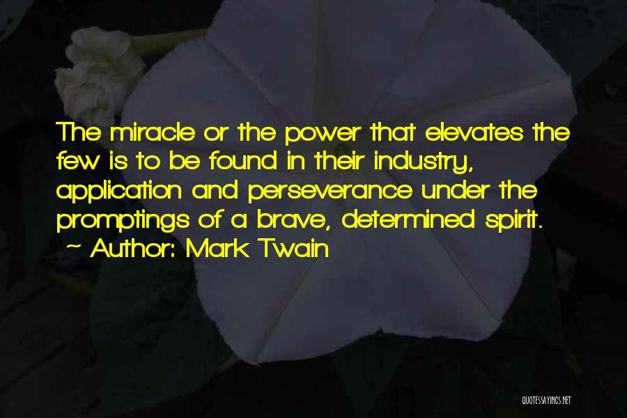 Perseverance And Determination Quotes By Mark Twain