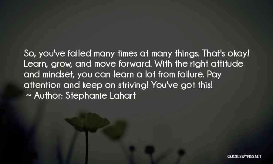 Perseverance And Determination Quotes By Stephanie Lahart